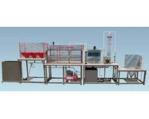 污水处理厂立体布置模型